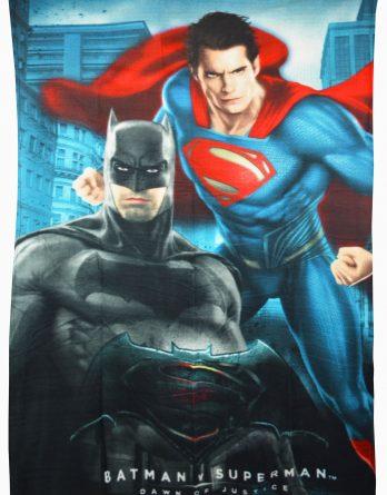 Batman vs Superman 'Action' Panel Fleece Blanket Throw