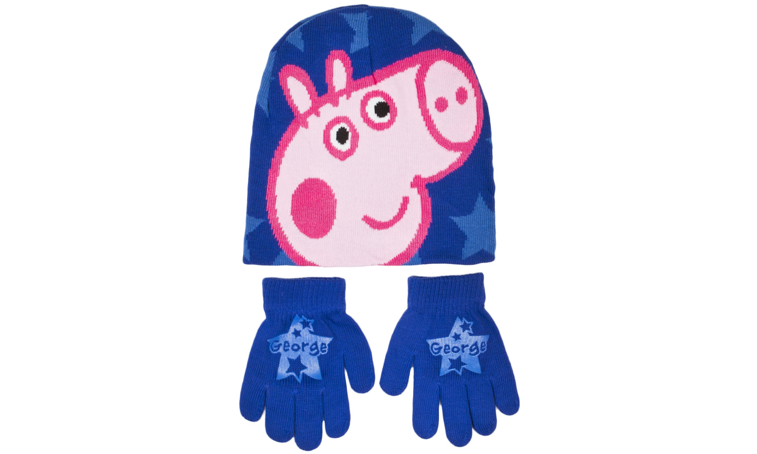 George Pig Boys George Pig Hat and Gloves Set