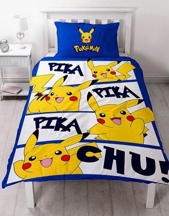 Duvet cover Pokemon Go Pikachu 'Action' Panel Single Bed Duvet Quilt Cover Set