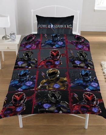 Duvet cover Power Rangers 'Block' Reversible Rotary Single Bed Duvet Quilt Cover Set