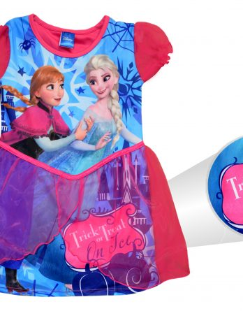 Disney Frozen Anna Elsa 'Halloween Dress' Trick Or Treat Small 5 6 Years Costume