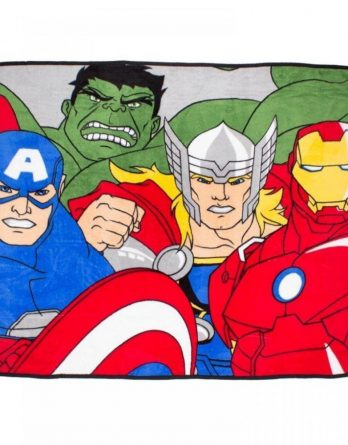Avengers 'Force' Coral Panel Fleece Blanket Throw
