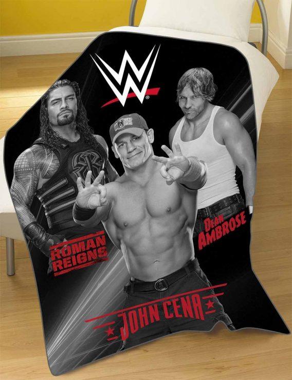 WWE 'Stars' Rdj Panel Fleece Blanket Throw
