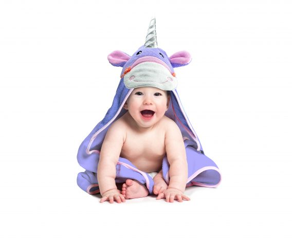 Hooded_unicorn_towel_poncho_purple